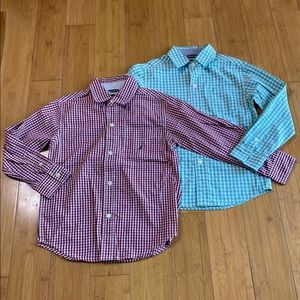 lot 2 Nautica Plaid Woven Button-Down Shirt M(5/6)